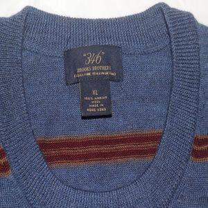 Brooks Brothers Mens 100% Merino Wool Striped XL
